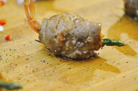 中秋烤肉食材-牛五花鑲海老